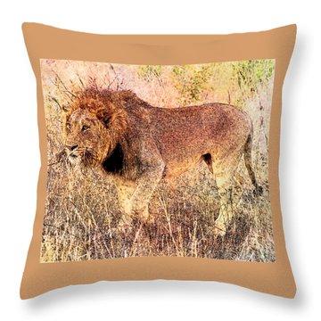 The King Throw Pillow by Ericamaxine Price