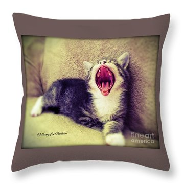 The  King Of Beast Throw Pillow