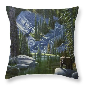 The King Of Cook's Lake Throw Pillow