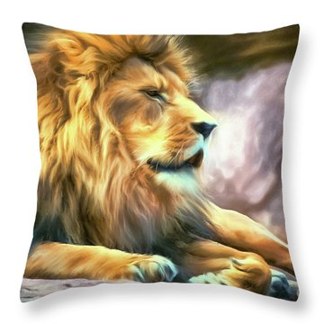 The King Of Cool Throw Pillow