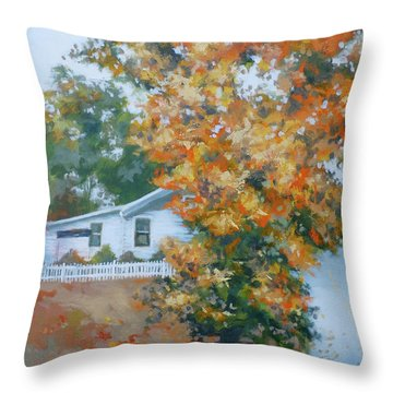 The King Of King Street Throw Pillow by Carol Strickland