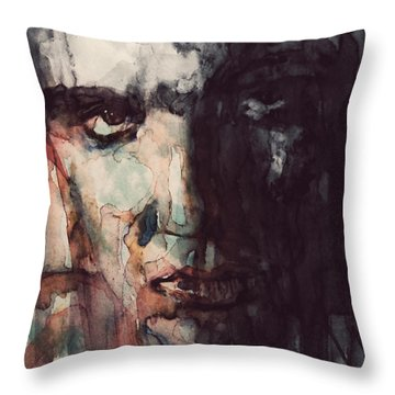The King Throw Pillow by Paul Lovering