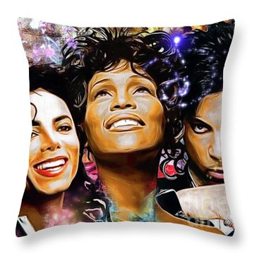 The King, The Queen And The Prince Throw Pillow by Daniel Janda