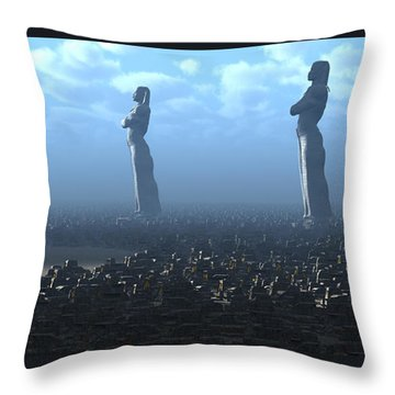 The Kings Await Morning Throw Pillow