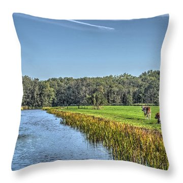 The King's Cows Throw Pillow