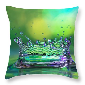 Rain Throw Pillows