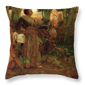 The King's Daughter Throw Pillow by Arthur A Dixon
