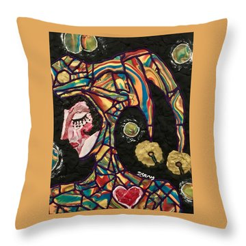 The King's Fool Throw Pillow