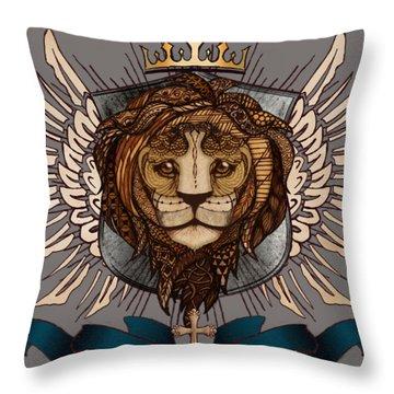 The King's Heraldry II Throw Pillow