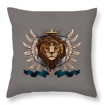 The King's Heraldry II Throw Pillow