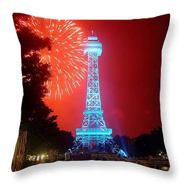 The King's Tower Throw Pillow by Barkley Simpson