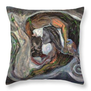The Kiss  Throw Pillow by Antonio Ortiz