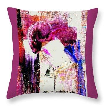 The Kiss - Dedicated Throw Pillow
