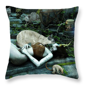 The Kiss Throw Pillow by Jutta Maria Pusl