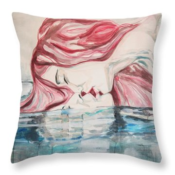 The Kiss Of Life Throw Pillow