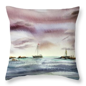 The Kiss Of The Night Throw Pillow