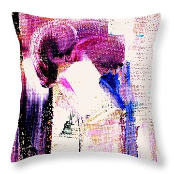 The Kiss Throw Pillow by VIVA Anderson