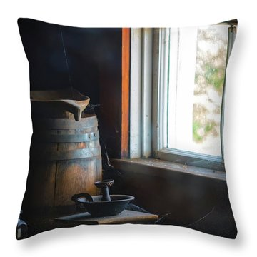 The Kitchen Window Throw Pillow by Mitch Shindelbower