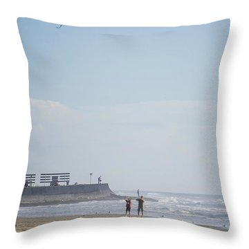 The Kite Fliers Throw Pillow