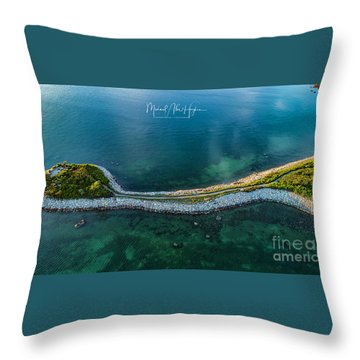 Throw Pillow featuring the photograph The Knob by Michael Hughes