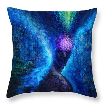 The Knowing Throw Pillow by Tony Koehl