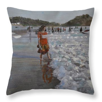 The Konkan Beach Throw Pillow