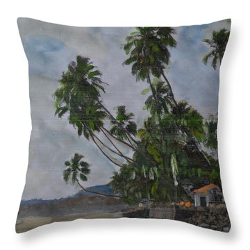 The Konkan Coastline Throw Pillow