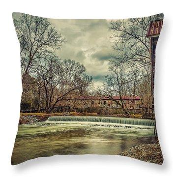 The Kymulga Mill Throw Pillow by Phillip Burrow