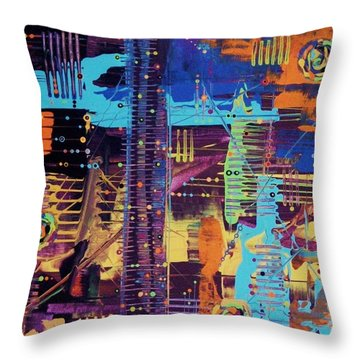 The L.a. Sky On The 4th Of July Throw Pillow