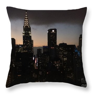 The Lady Chrysler Throw Pillow