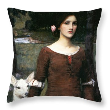 The Lady Clare Throw Pillow