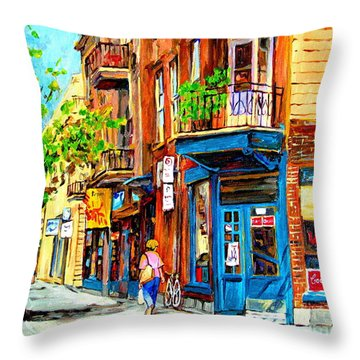 The Lady In Pink Throw Pillow by Carole Spandau