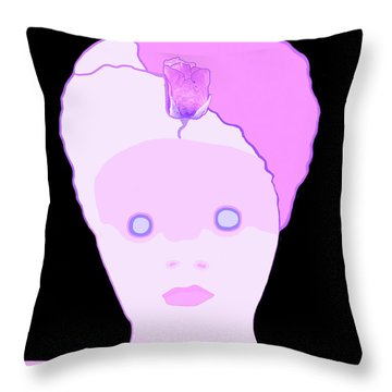 Throw Pillow featuring the painting The Lady Of Peacock Hill by Marian Cates