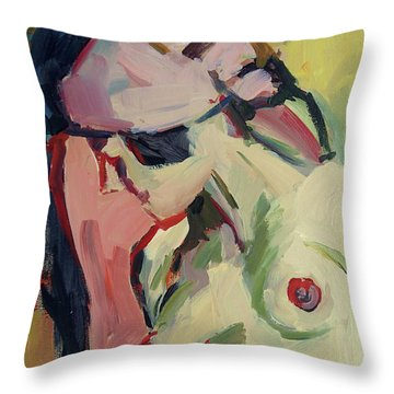 The Lady Without A Pearl Throw Pillow