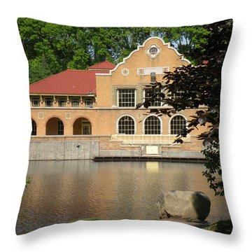Throw Pillow featuring the photograph The Lake House by Rosalie Scanlon