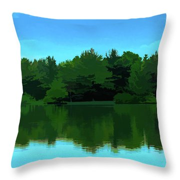 The Lake - Impressionism Throw Pillow