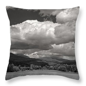 The Lake With Dramatic Clouds Throw Pillow