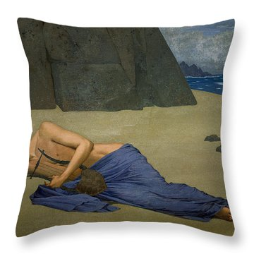 The Lamentation Of Orpheus Throw Pillow by Alexandre Seon