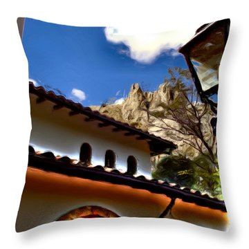 The Lamp Post Throw Pillow by Francisco Colon