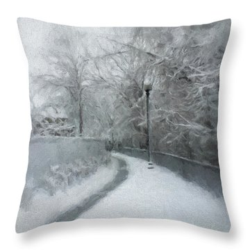 The Lamppost Throw Pillow