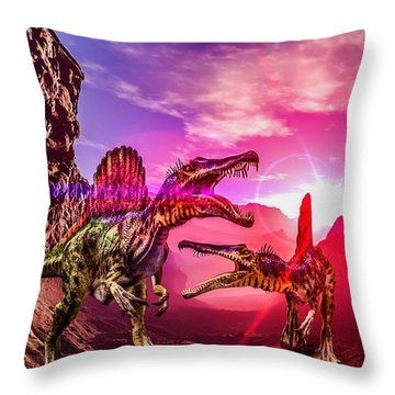 The Land Before Time 1 Throw Pillow by Naomi Burgess