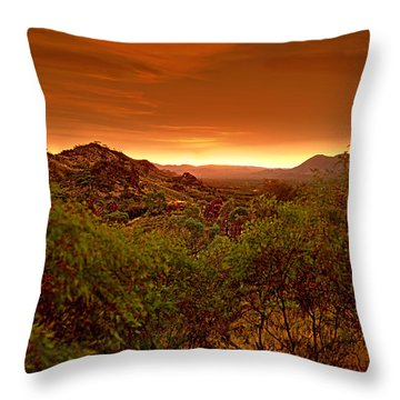 Throw Pillow featuring the photograph The Land Before Time by Paul Svensen