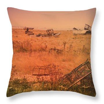 The Landscape Of Dungeness Beach, England 2 Throw Pillow