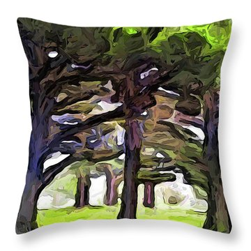 The Landscape With The Leaning Trees Throw Pillow