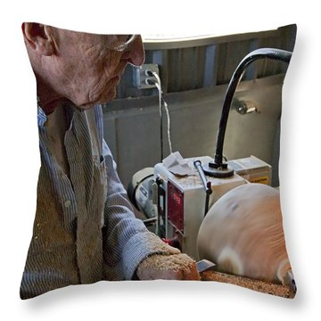 The Last Bowl Throw Pillow by Gary Holmes