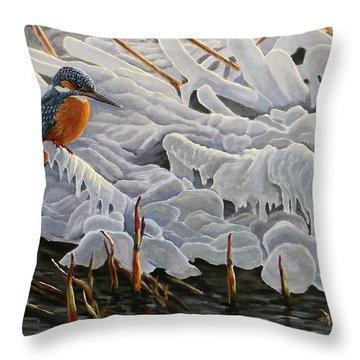 The Last Burst Of Winter Throw Pillow