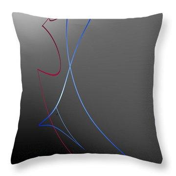 The Last Dance Throw Pillow by John Krakora