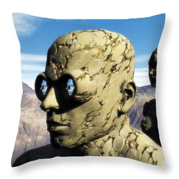 The Last Elementals Awaiting Their Doom Throw Pillow