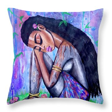 The Last Eve In Eden Throw Pillow
