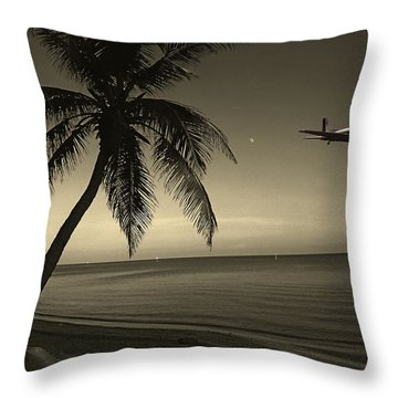 The Last Flight Out Throw Pillow